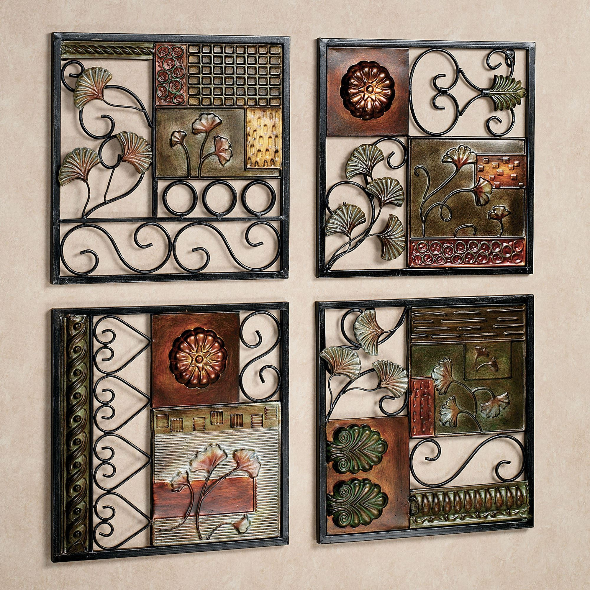 Dusk And Dawn Metal Wall Art Set Regarding 4 Piece Metal Wall Plaque Decor Sets (View 3 of 30)