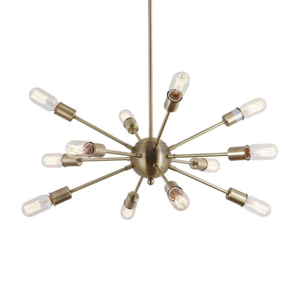 Dyar 12 Light Sputnik Chandelier Intended For Defreitas 18 Light Sputnik Chandeliers (View 24 of 30)
