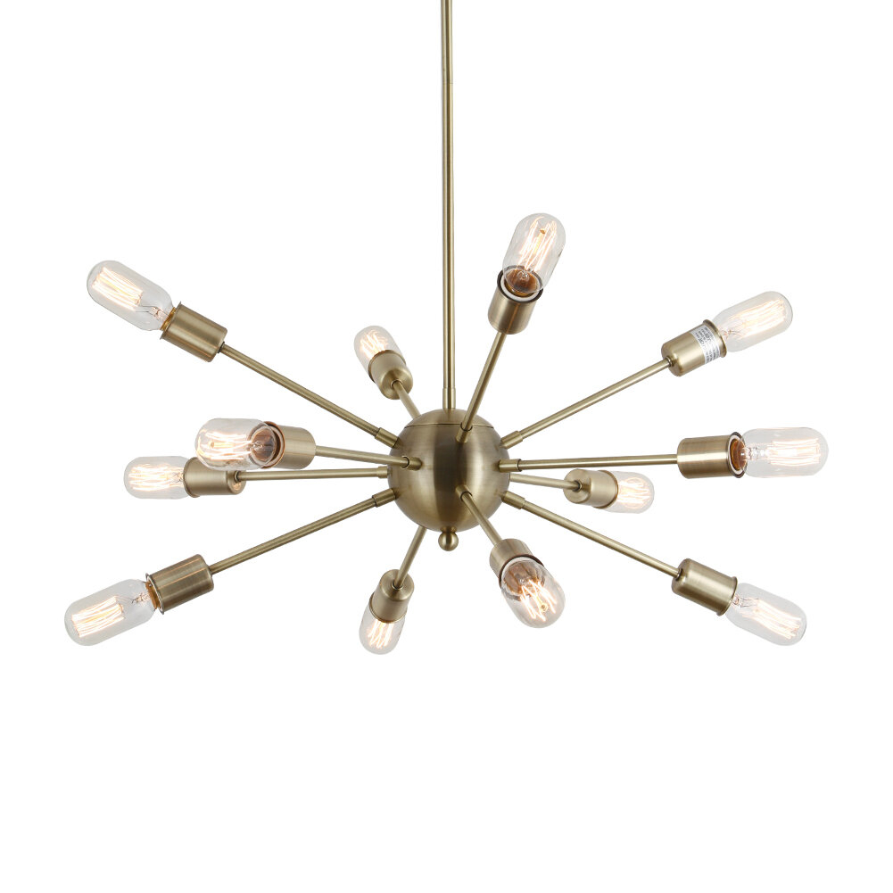 Dyar 12 Light Sputnik Chandelier Intended For Vroman 12 Light Sputnik Chandeliers (View 10 of 30)