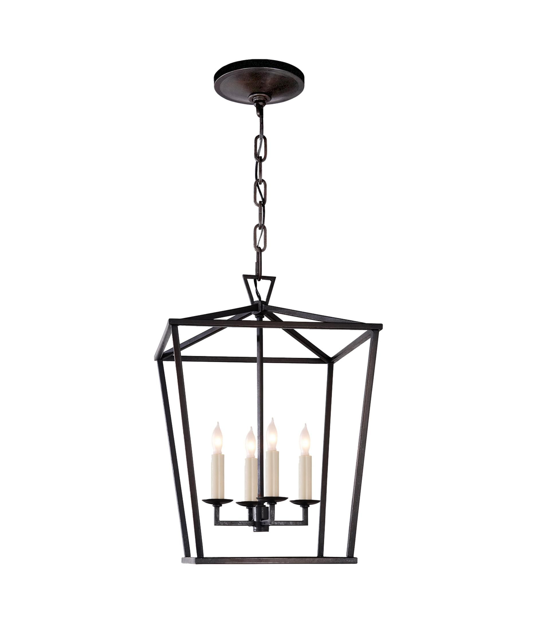 E. F. Chapman Darlana 12 Inch Cage Pendantvisual Comfort With Regard To Gabriella 3 Light Lantern Chandeliers (Photo 18 of 30)
