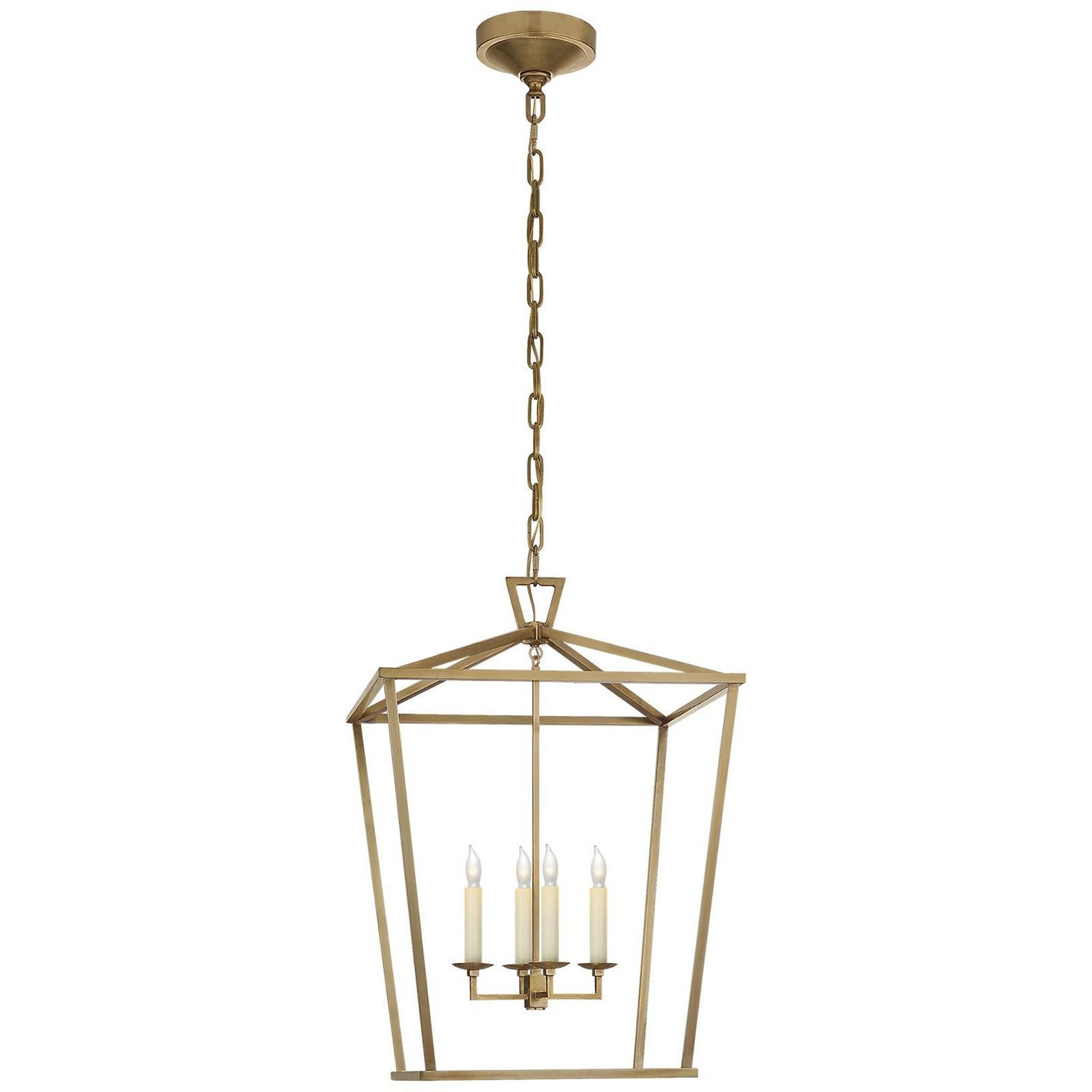 E. F. Chapman Darlana 17 Inch Cage Pendantvisual Comfort with regard to Isoline 2-Light Lantern Geometric Pendants (Image 4 of 30)