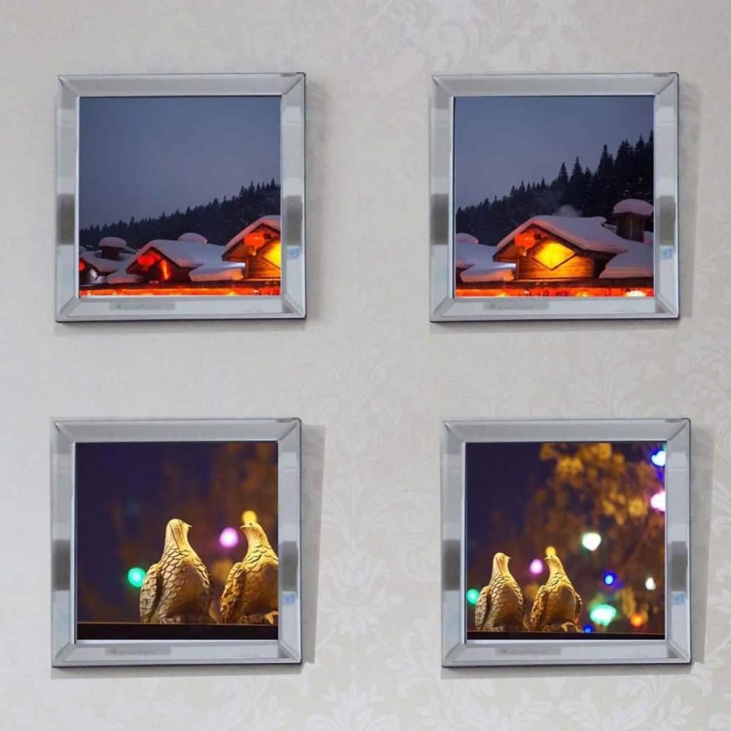 ซื้อที่ไหน Wall Mounted Mirrored Frame Wall Decoration Inside Caja Rectangle Glass Frame Wall Mirrors (View 30 of 30)