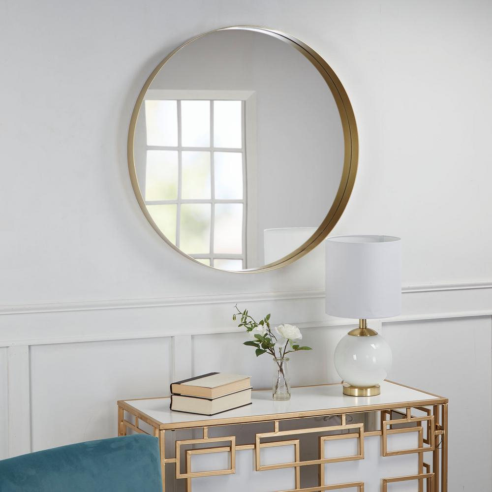 Eagan Round Gold Wall Mirror In 2019 | Products With Traditional Metal Wall Mirrors (Photo 26 of 30)