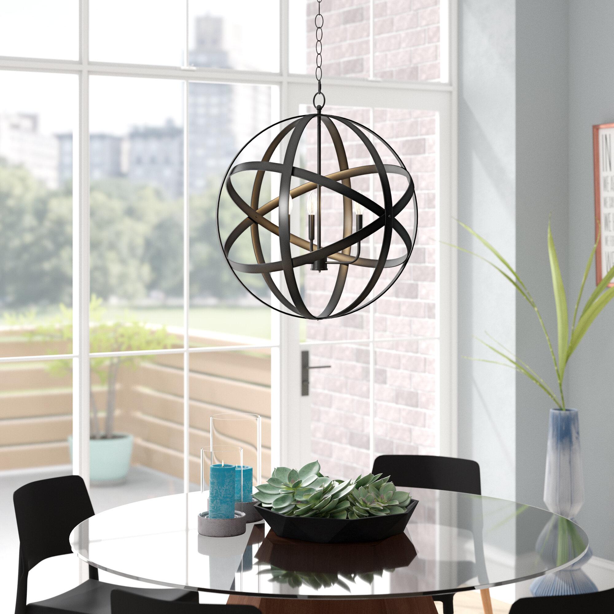 Ealey 1-Light Single Globe Pendant in Irwin 1-Light Single Globe Pendants (Image 7 of 30)