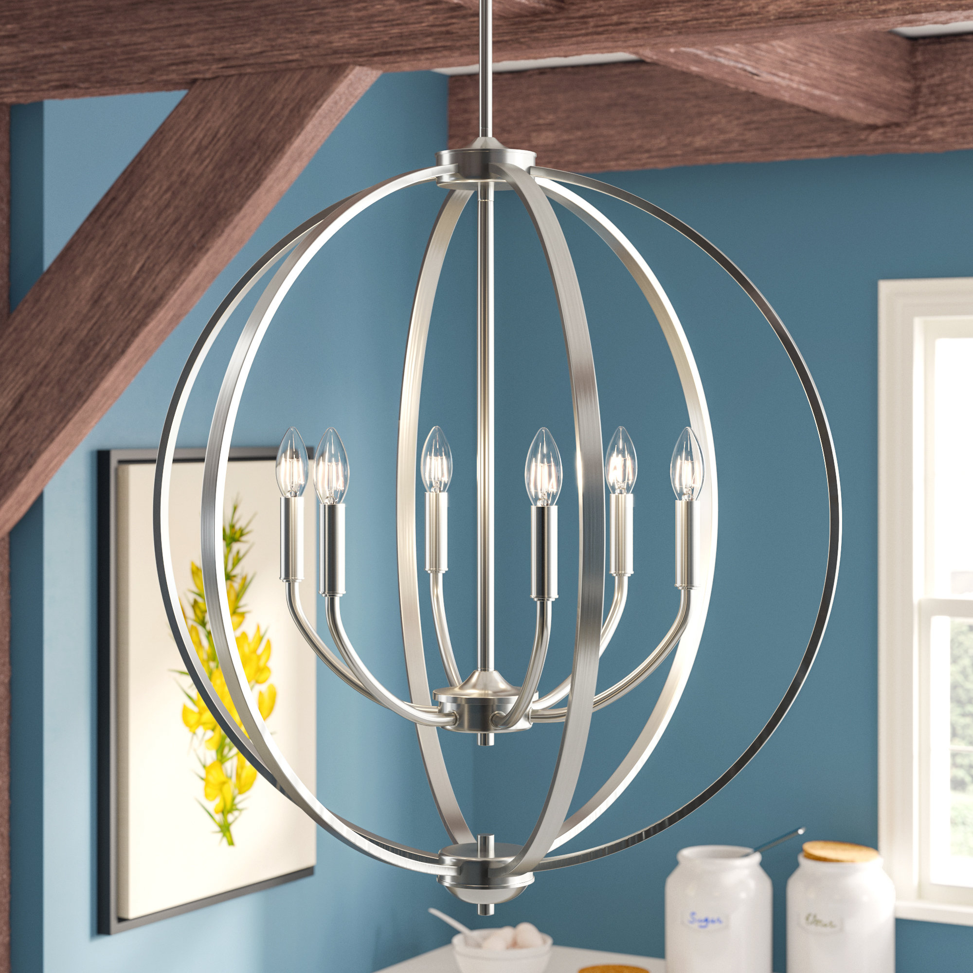 Earlene 6 Light Globe Chandelier For Gregoire 6 Light Globe Chandeliers (View 9 of 30)