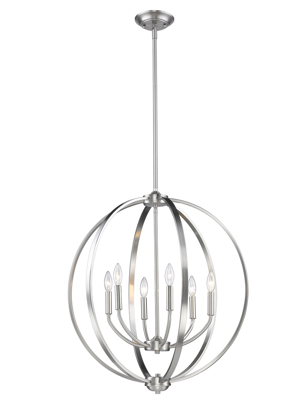 Earlene 6 Light Globe Chandelier With Regard To Gregoire 6 Light Globe Chandeliers (View 13 of 30)