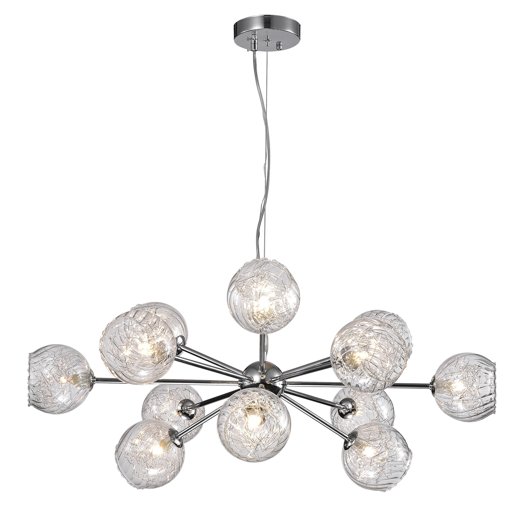 Earleville 12-Light Sputnik Chandelier for Asher 12-Light Sputnik Chandeliers (Image 15 of 30)