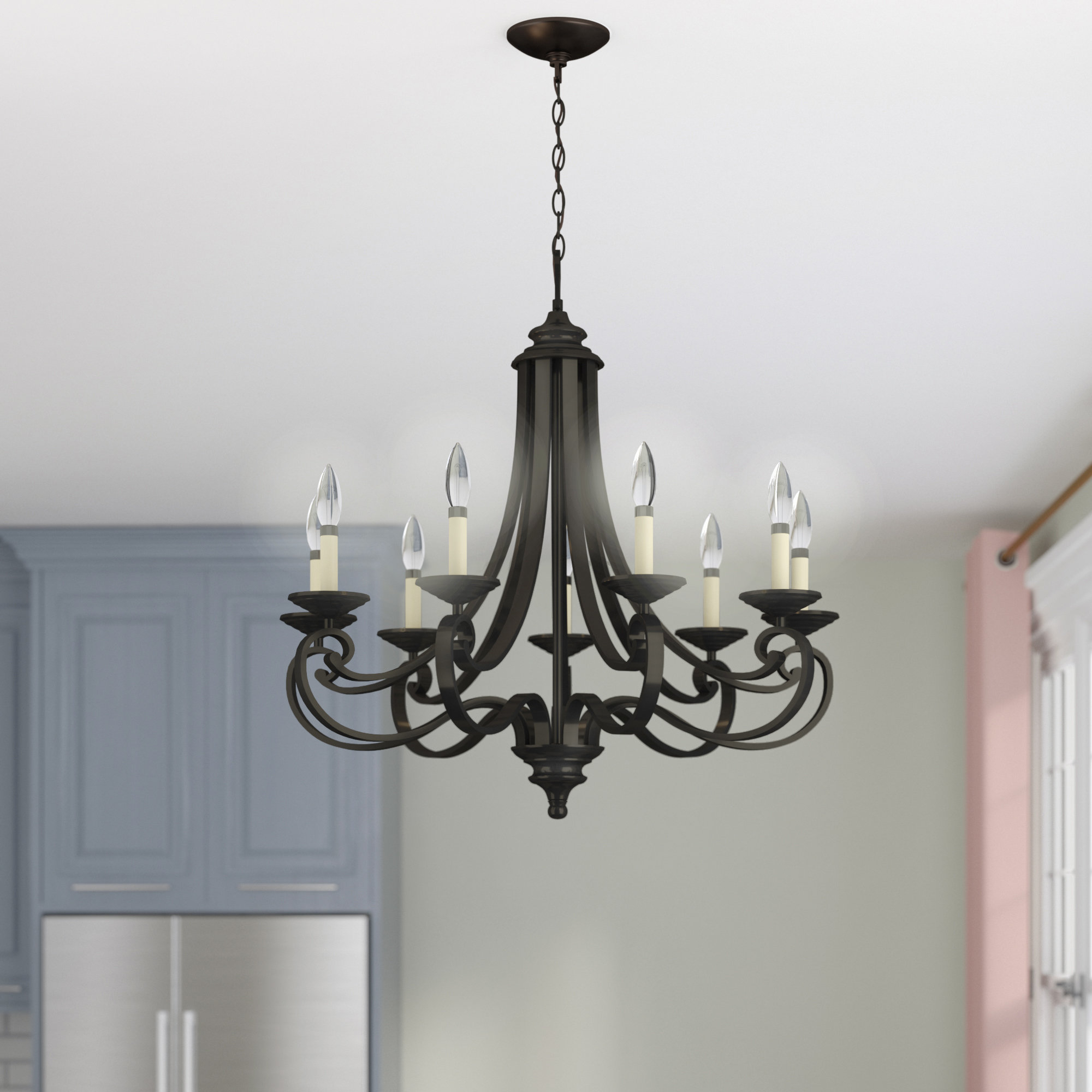Earline 9 Light Chandelier With Gaines 9 Light Candle Style Chandeliers (Photo 27 of 30)