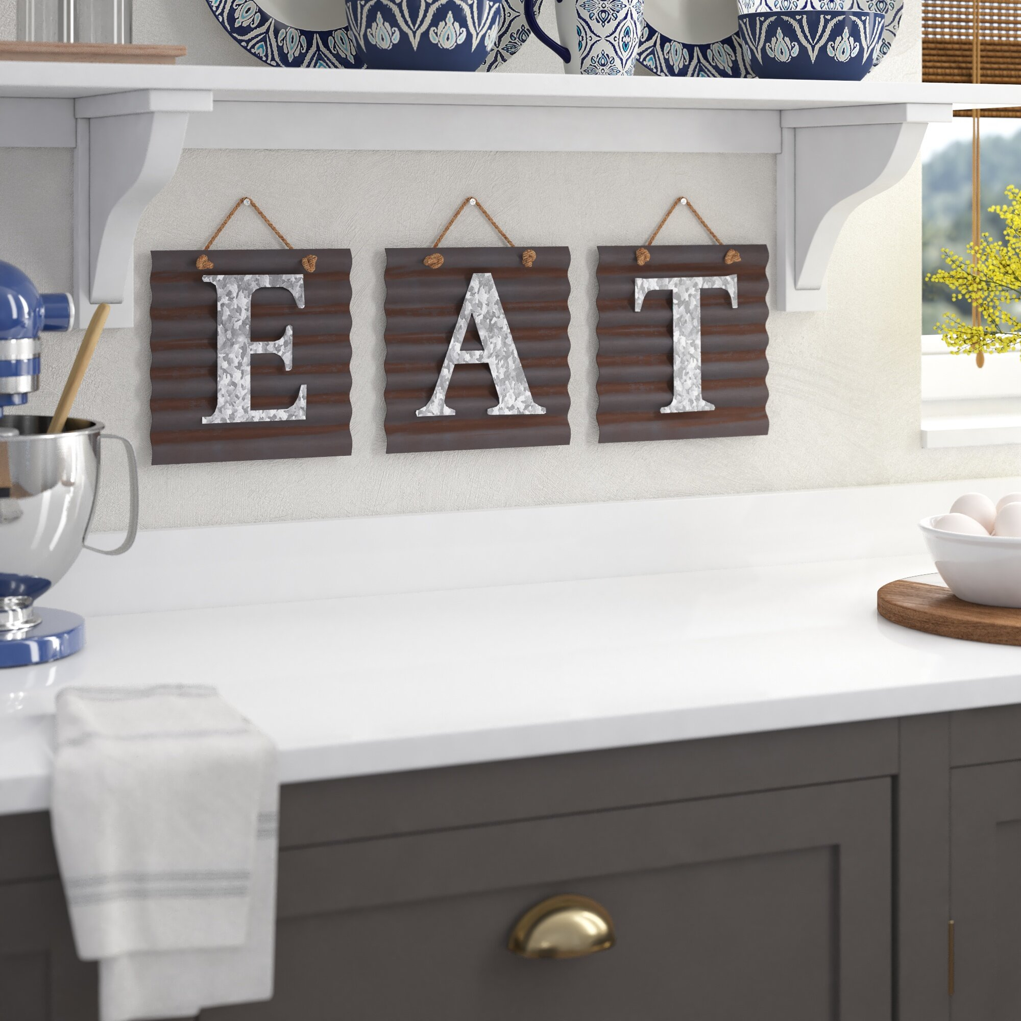 Eat Kitchen Signs | Wayfair Regarding Sign Wall Decor By Charlton Home (Gallery 12 of 30)