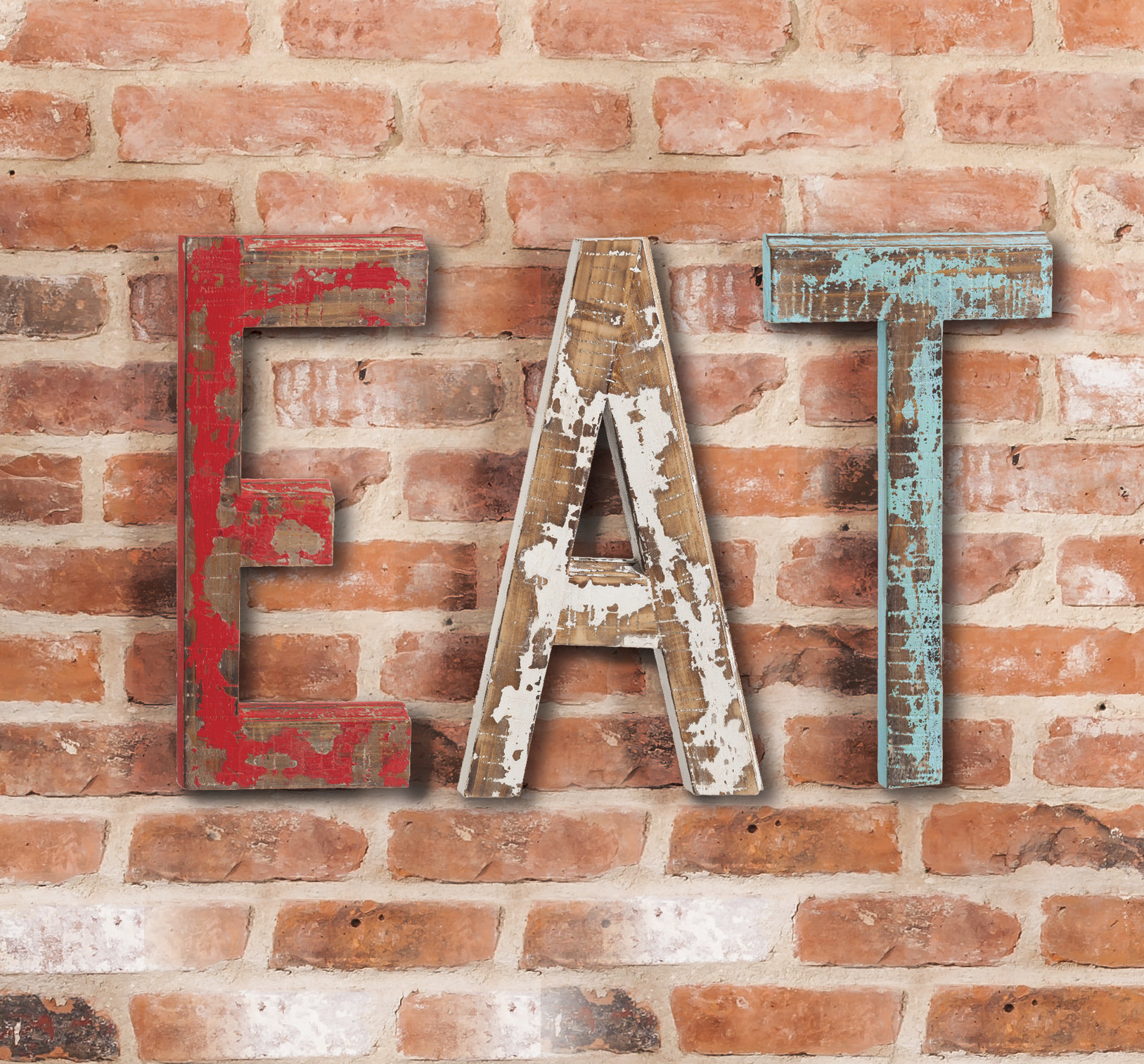 "Eat Letters Wall Decor Eat Letters In Mccue 11.5"" Typewriter Text Wall Decor (Gallery 18 of 30)"