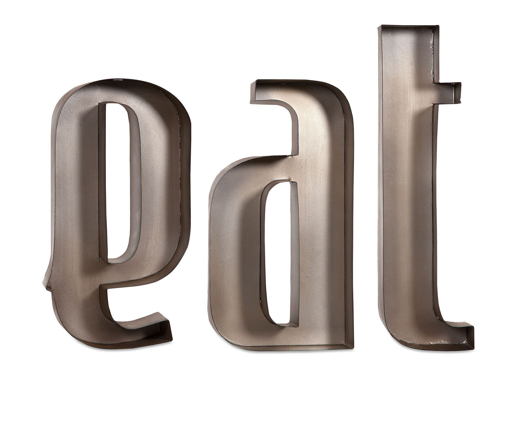 """Eat Metal Wall Letters 