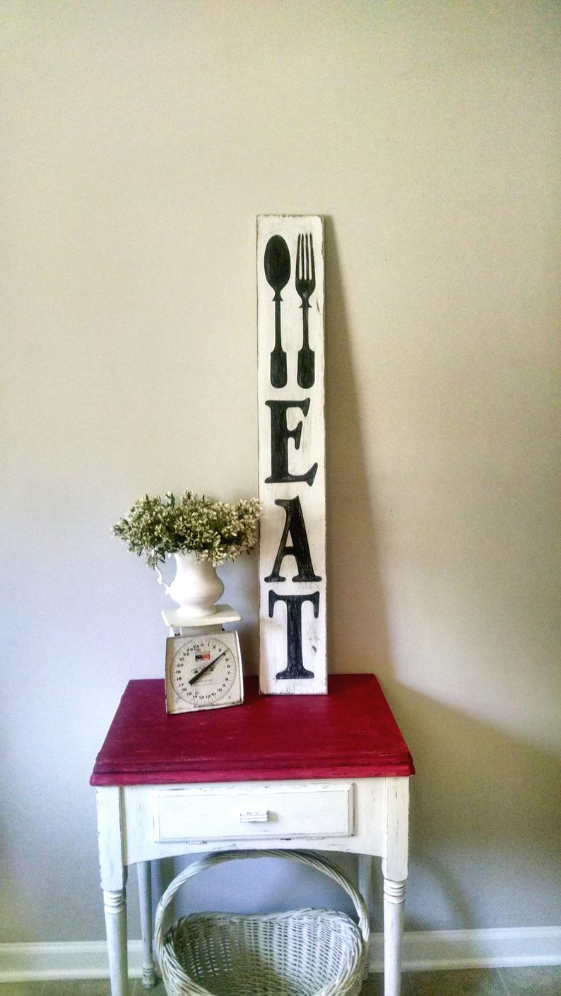 Eat Rustic Sign   Rustic Pallet Wall Art   Farmhouse Kitchen Wall Decor    Eat Wood Sign   Pallet Wall Art   Eat   Housewarming Gift With Regard To Eat Rustic Farmhouse Wood Wall Decor (Photo 8 of 30)