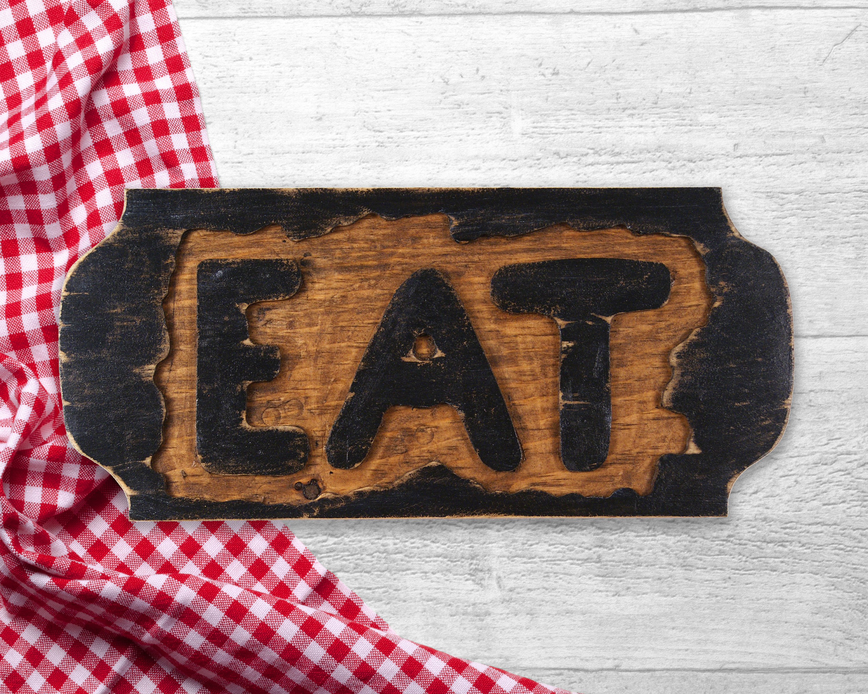 Eat Sign, Reclaimed Wood Wall Hanging, Rustic Wall Hanging With Regard To Eat Rustic Farmhouse Wood Wall Decor (Photo 25 of 30)