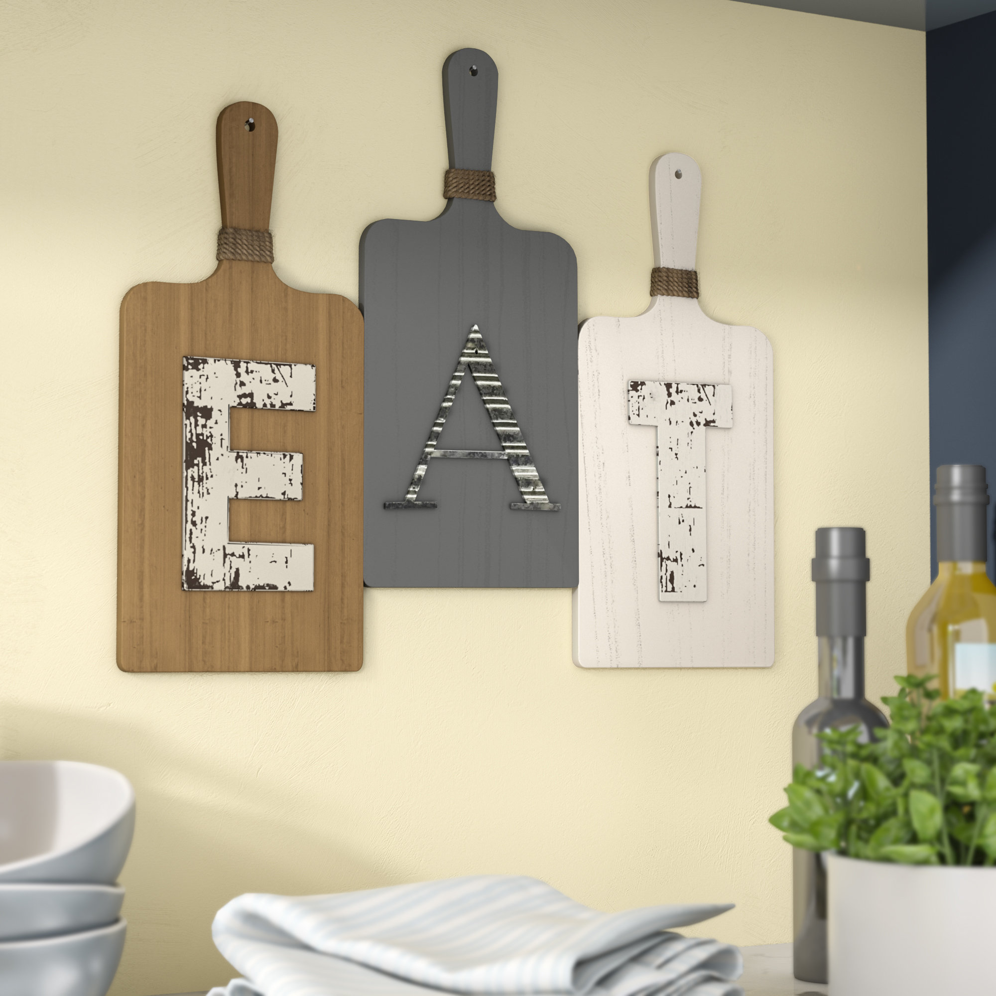 Eat Wall Decor | Rikenik With Metal Wall Decor By Charlton Home (Gallery 22 of 30)