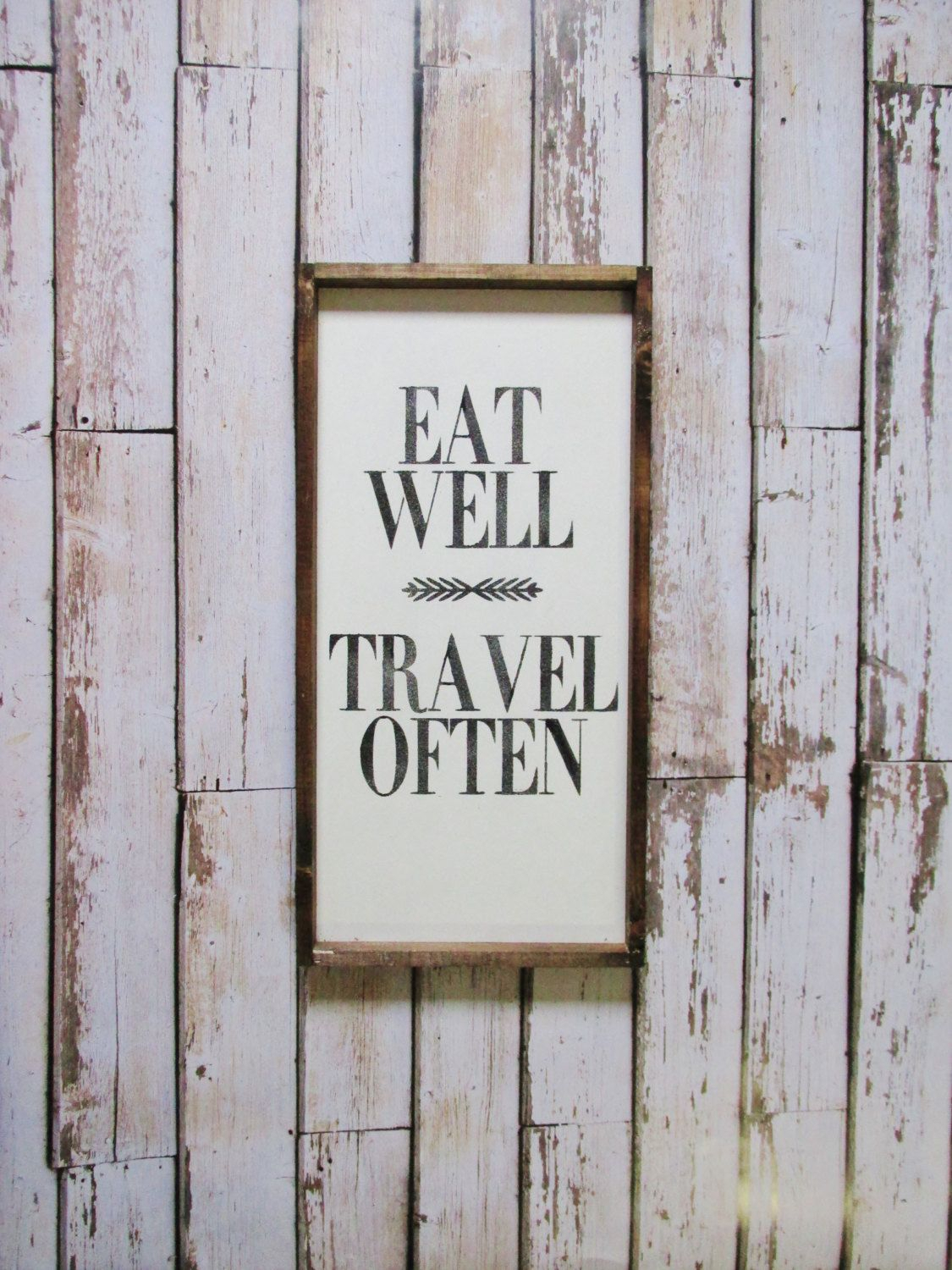 Eat Well Travel Often Wood Sign. Farmhouse Decor. Rustic Within Eat Rustic Farmhouse Wood Wall Decor (Gallery 14 of 30)