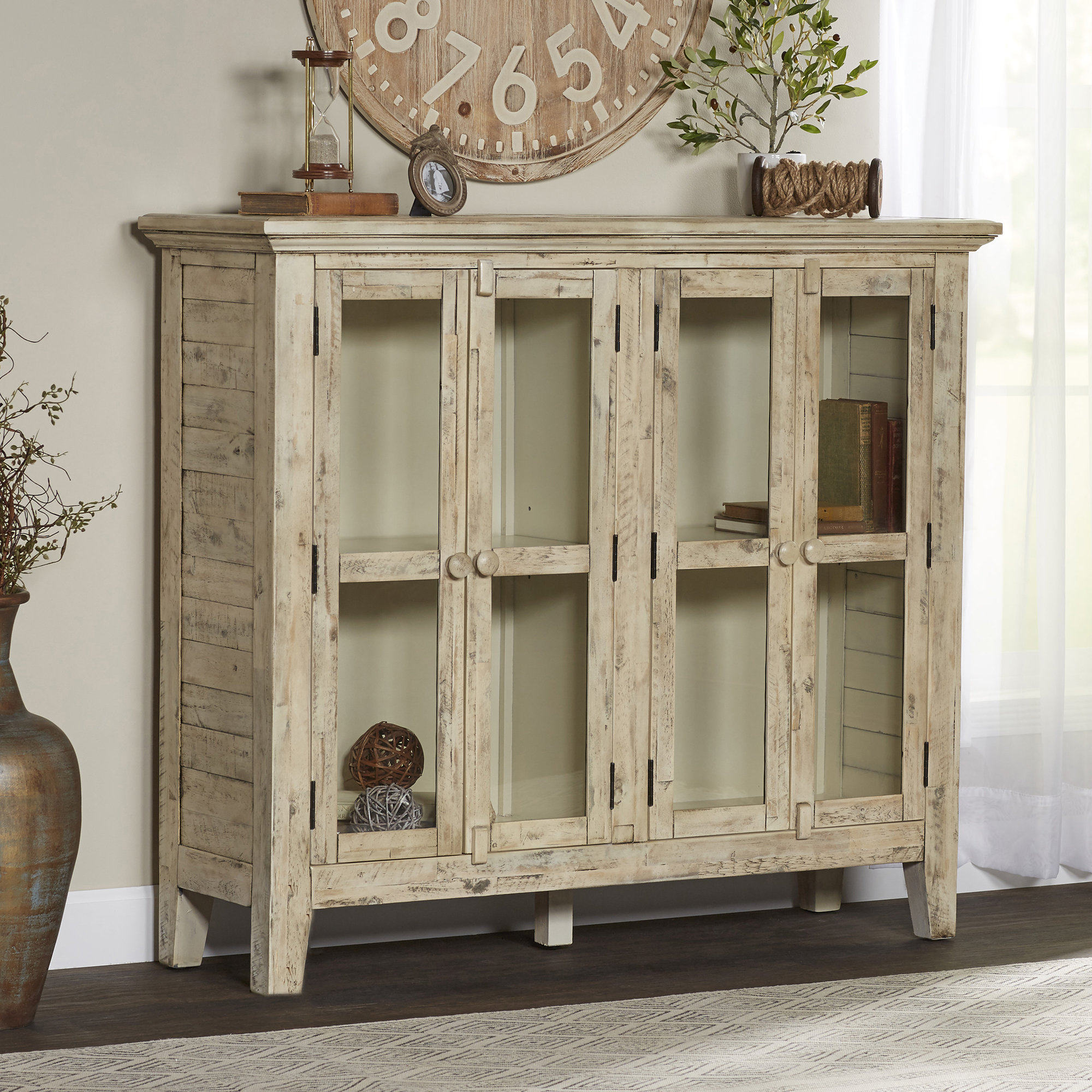 Eau Claire 4 Door Accent Cabinet Intended For Eau Claire 6 Door Accent Cabinets (Gallery 6 of 30)
