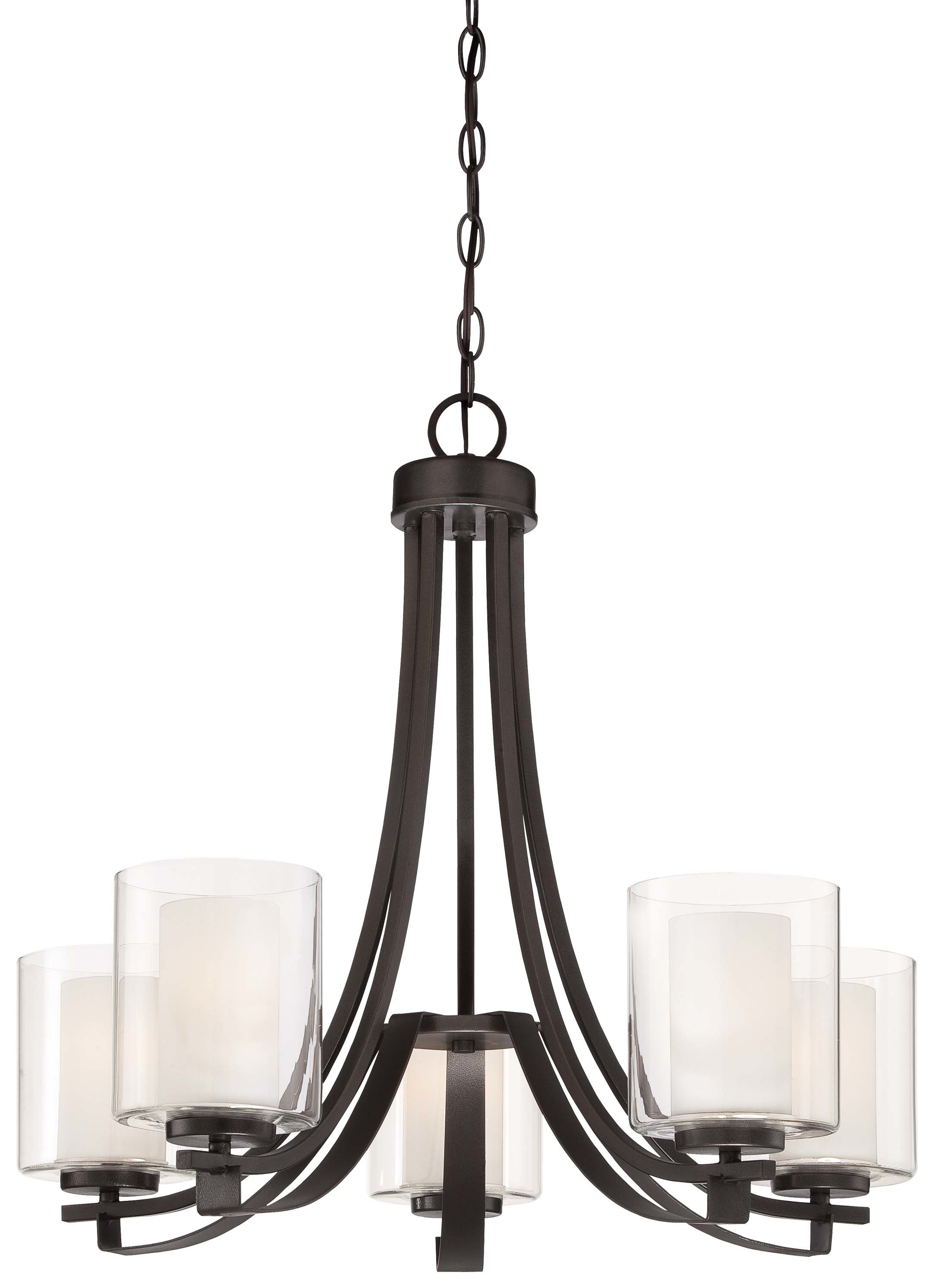 Ebern Designs Demby 5 Light Shaded Chandelier With Suki 5 Light Shaded Chandeliers (View 8 of 30)