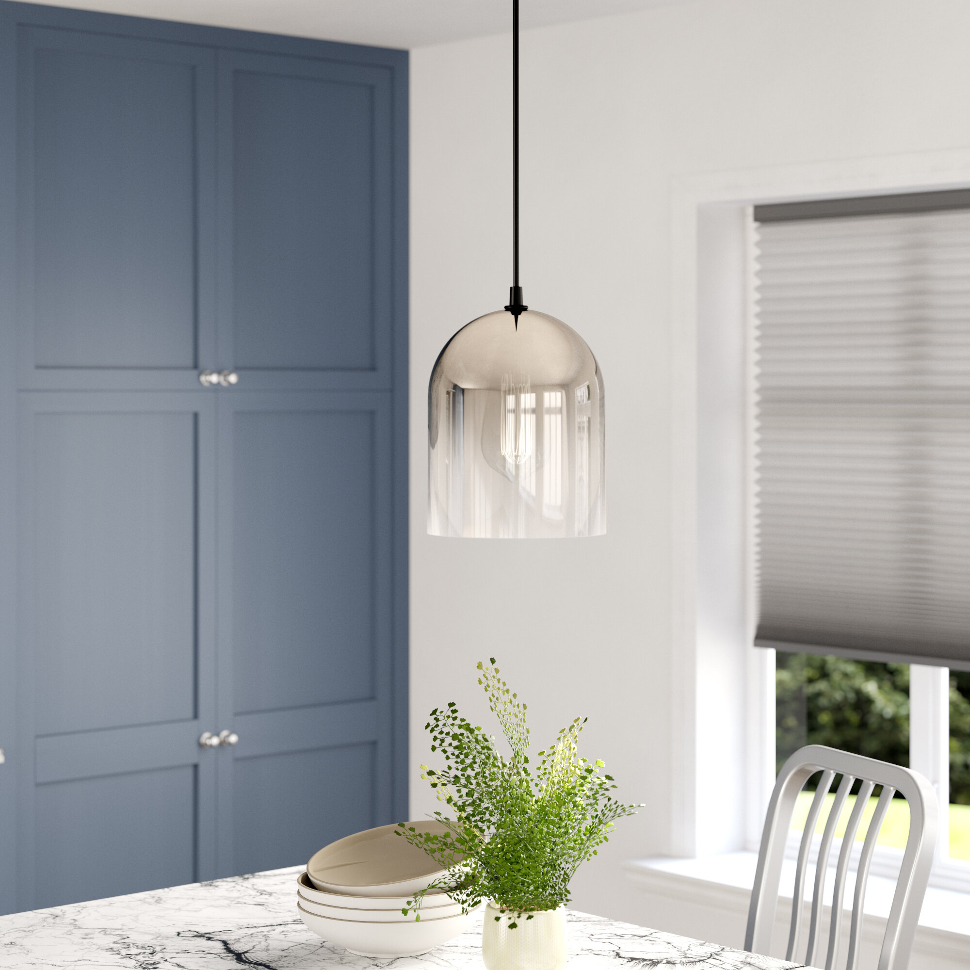Ebern Designs Mccue 1 Light Single Bell Pendant & Reviews Within Giacinta 1 Light Single Bell Pendants (Gallery 2 of 30)