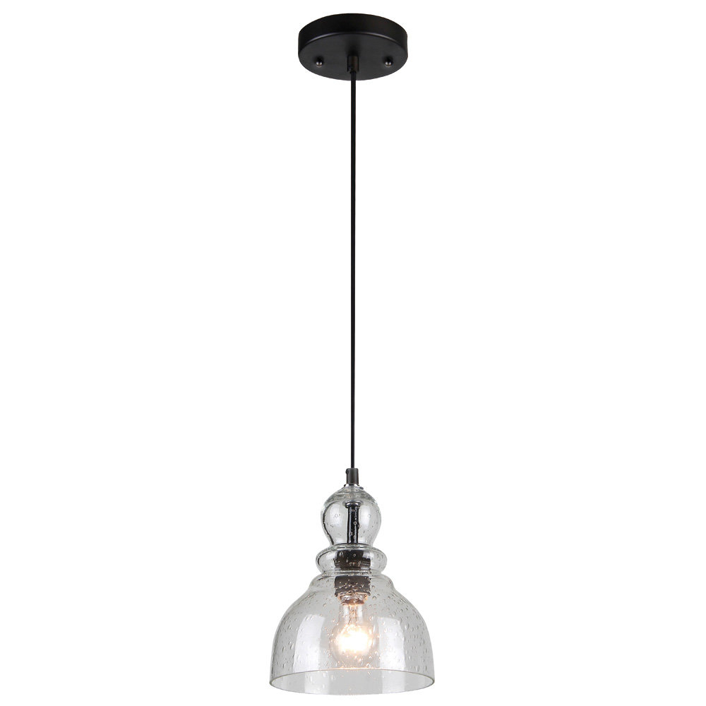 Ebern Designs Yarger 1-Light Bell Pendant intended for Bainbridge 1-Light Single Cylinder Pendants (Image 11 of 30)