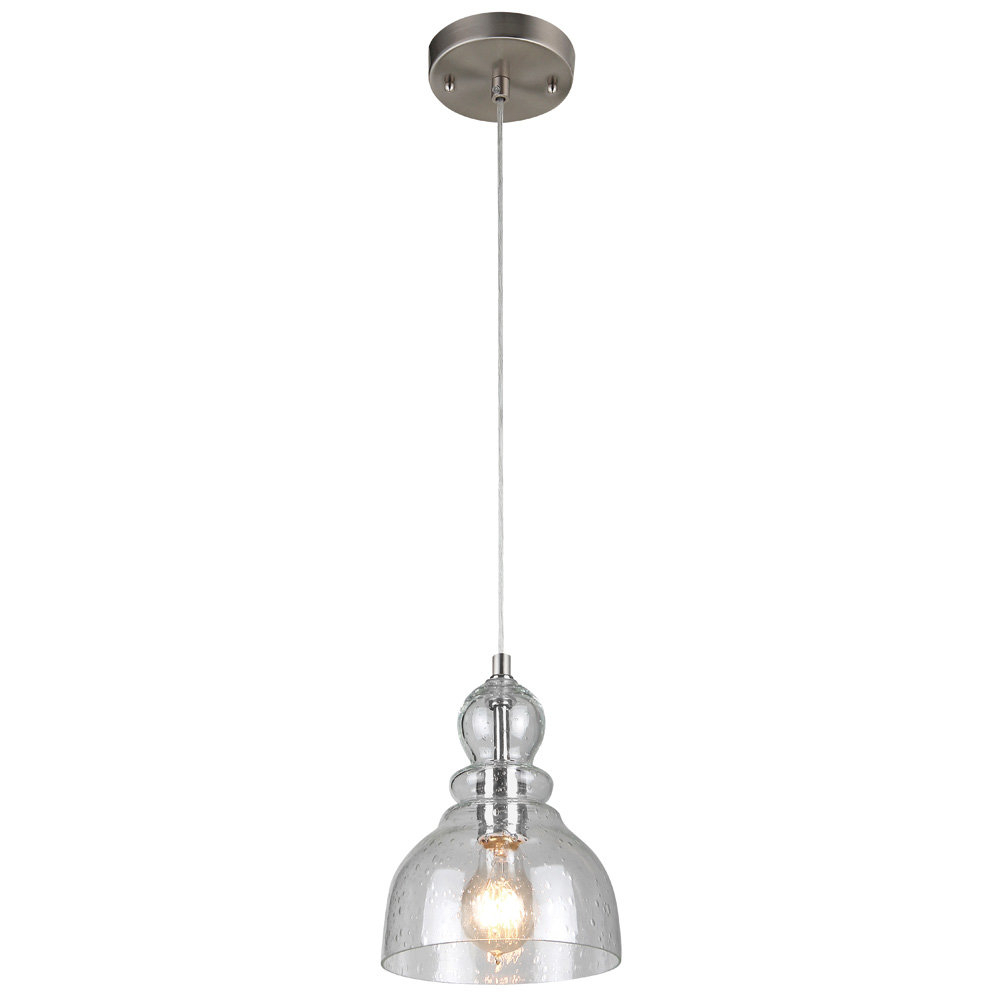 Ebern Designs Yarger 1 Light Bell Pendant With Regard To Yarger 1 Light Single Bell Pendants (View 5 of 30)