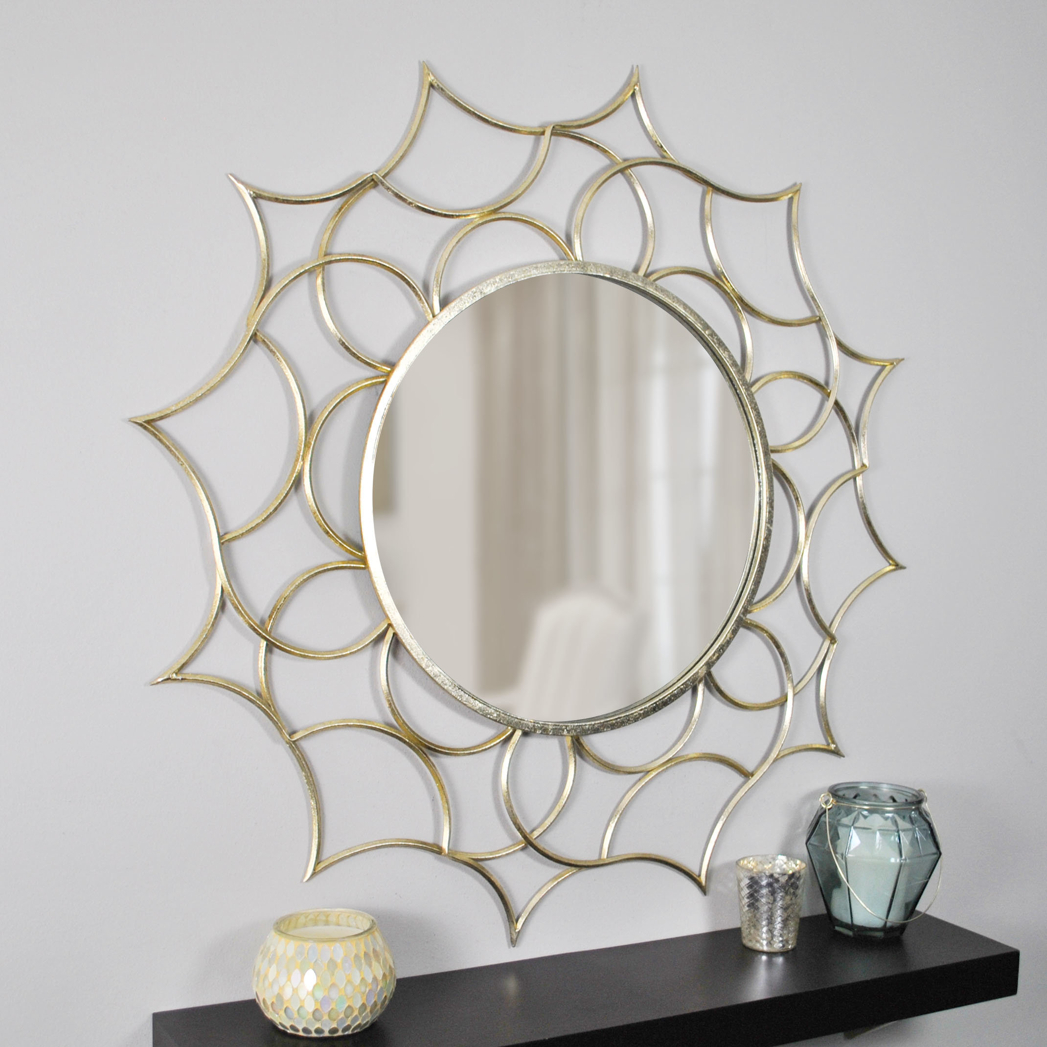 Eclectic Accent Mirror Throughout Round Eclectic Accent Mirrors (Photo 5 of 30)