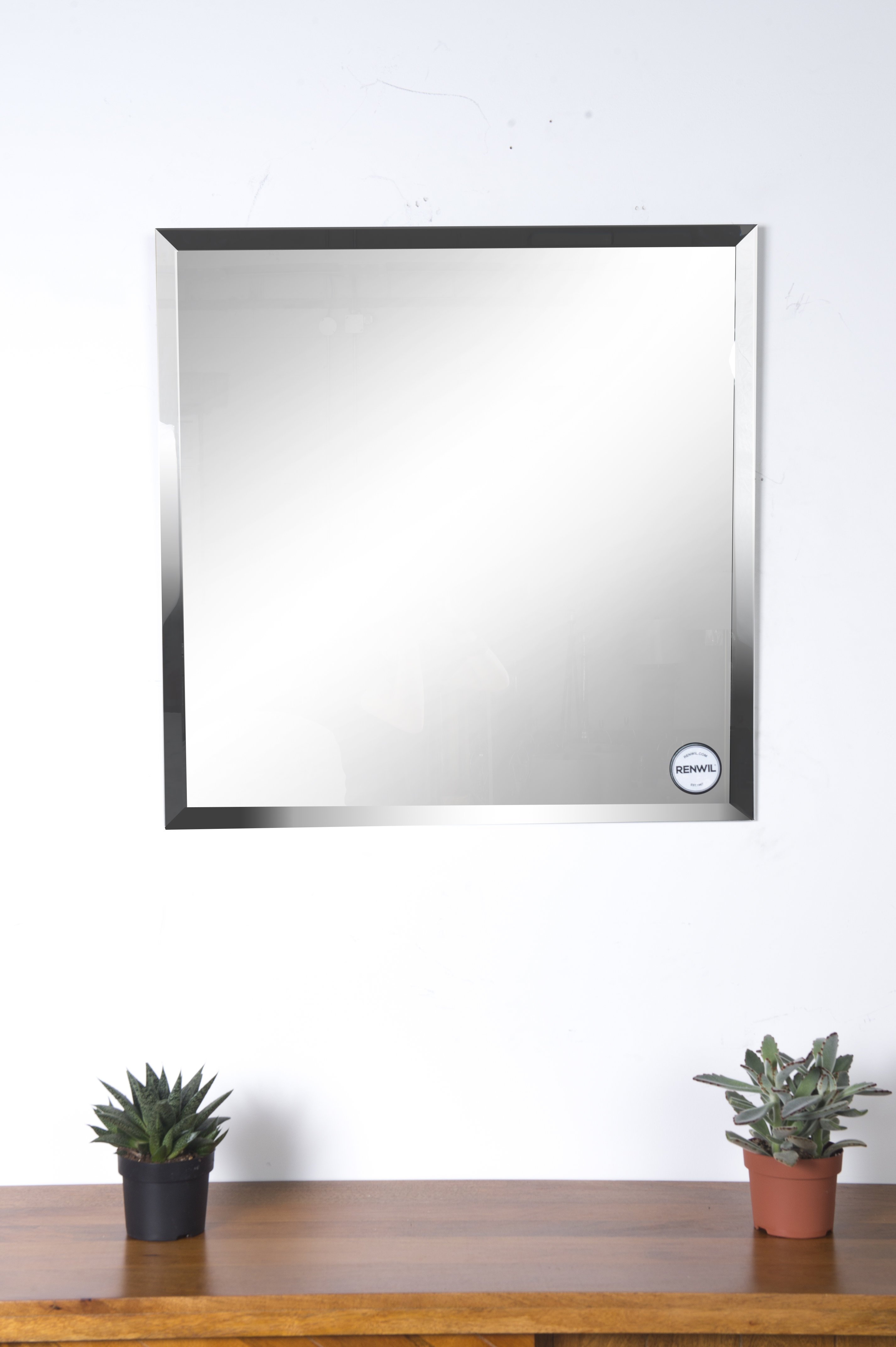 Eclectic Modern & Contemporary Beveled Wall Mirror regarding Modern & Contemporary Beveled Wall Mirrors (Image 12 of 30)