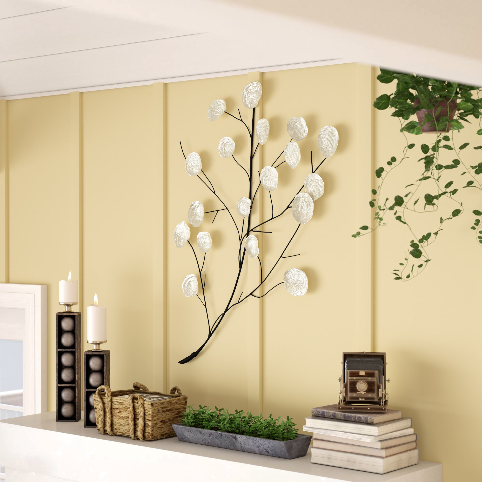 Eclectic Shell Leaf Wall Decor Intended For Tree Shell Leaves Sculpture Wall Decor (Photo 9 of 30)