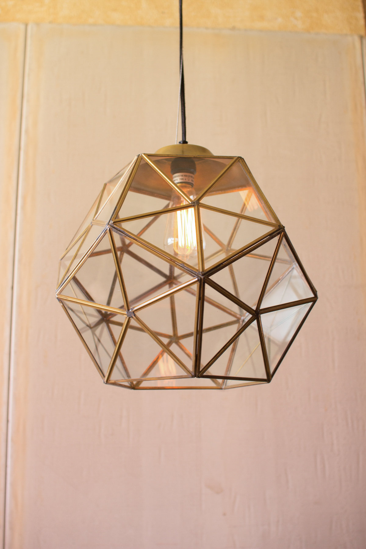 Edelman Glass 1 Light Lantern Pendant For Hydetown 1 Light Single Geometric Pendants (View 14 of 30)