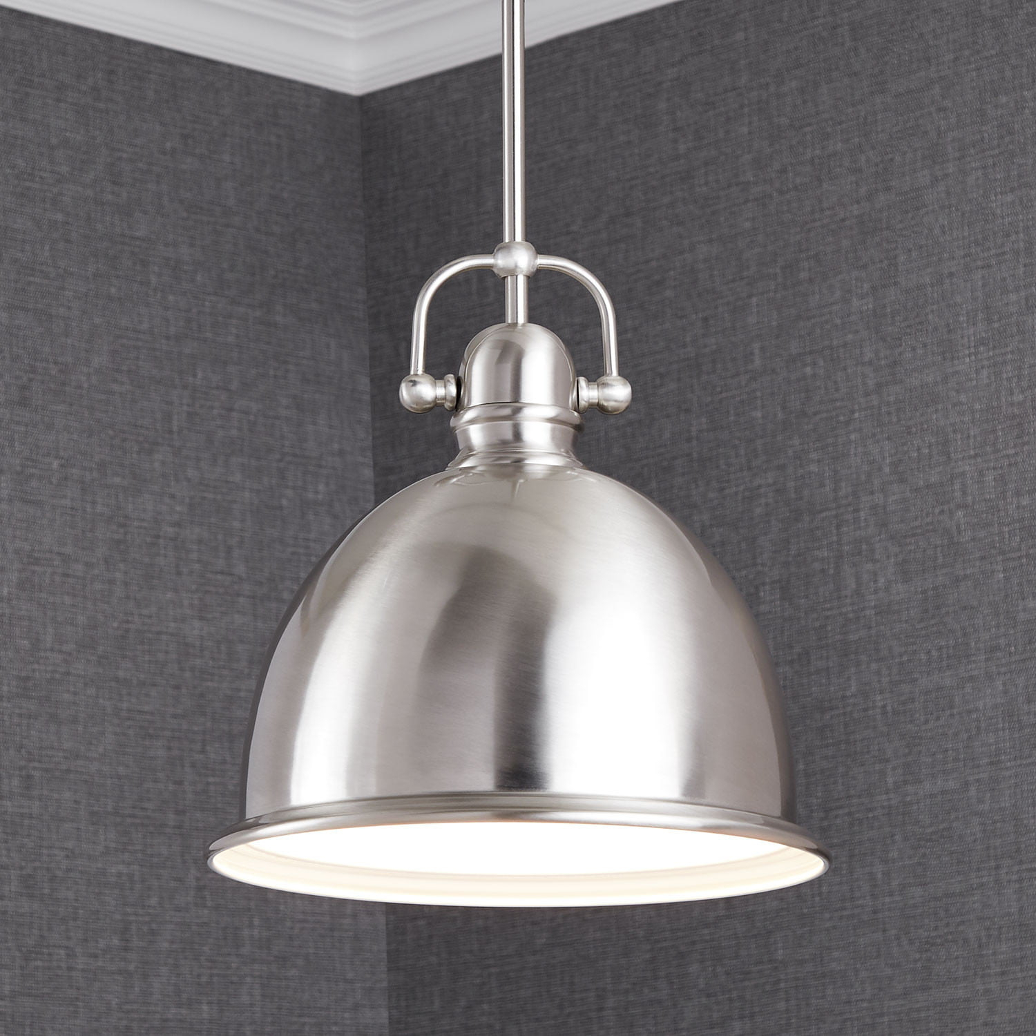 Edgar Dome Pendant Light - Single Light pertaining to 1-Light Single Dome Pendants (Image 9 of 30)