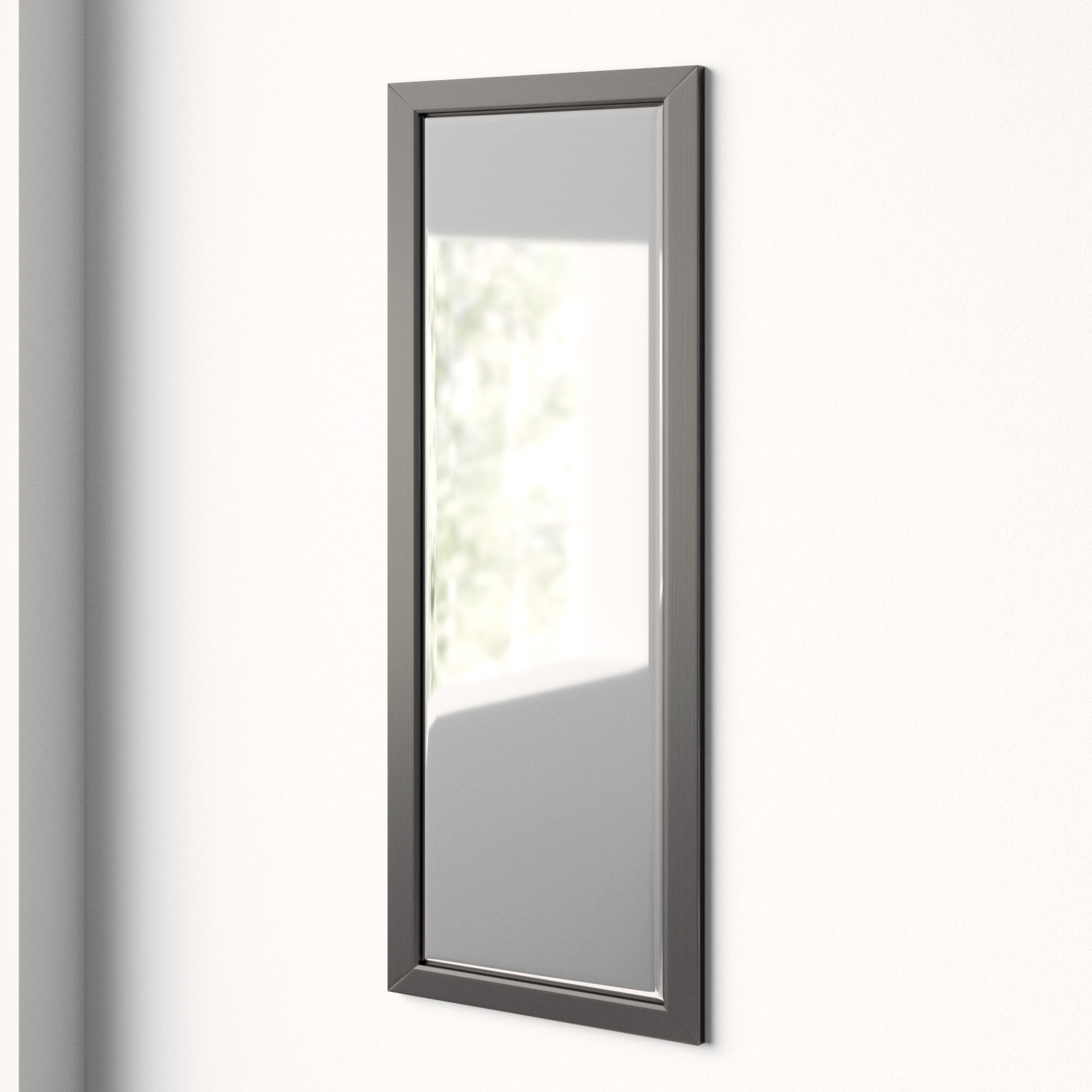 Edge Minimal Modern & Contemporary Full Length Body Mirror Within Modern & Contemporary Beveled Accent Mirrors (Photo 11 of 30)