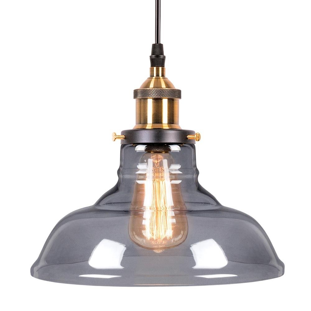 Edison Factory Glass Bowl Pendant Light – Antique Gold With Vintage Edison 1 Light Bowl Pendants (Gallery 9 of 30)
