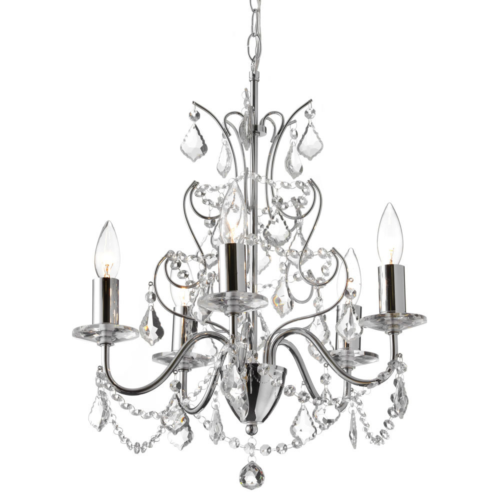 Edmond 5 Light Candle Style Chandelier Within Blanchette 5 Light Candle Style Chandeliers (Photo 11 of 30)