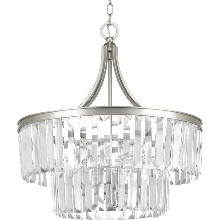 Eggar 5 Light Crystal Chandelier | New House | Progress Intended For Verdell 5 Light Crystal Chandeliers (Gallery 8 of 30)