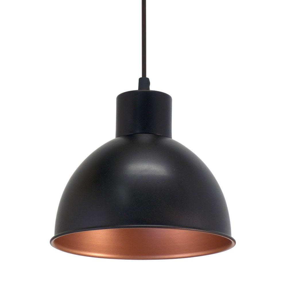 Eglo Truro 1 Vintage Black And Copper Pendant Light | Mom's Within Stetson 1 Light Bowl Pendants (View 11 of 30)