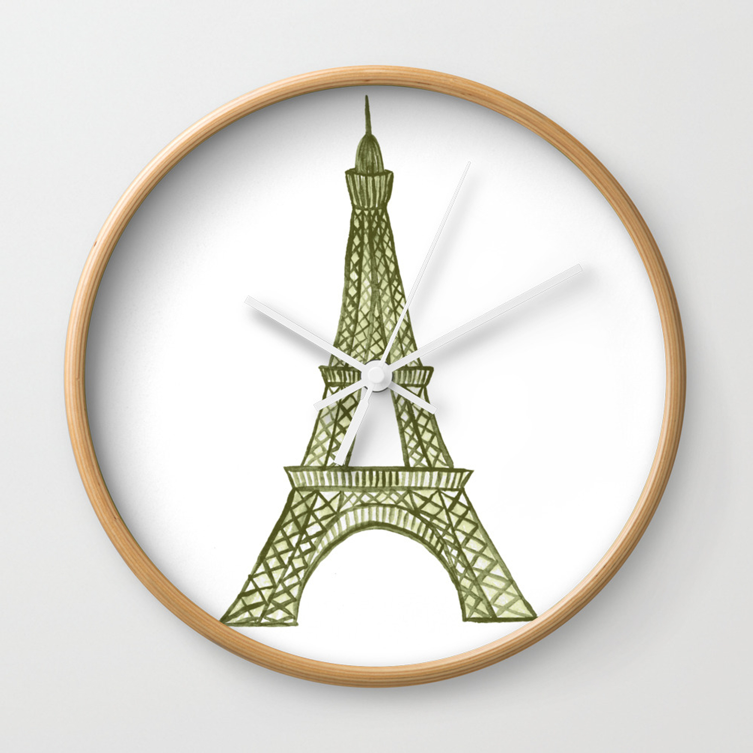 Eiffel Tower Gold / La Tour Eiffel   Painted Wall Clock In Latour Wall Decor (Photo 15 of 30)
