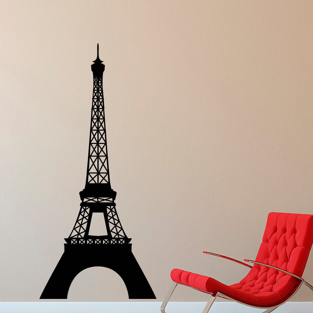Eiffel Tower Wall Decal Paris Theme Decor – Vinyl Wall Decal La Tour Eiffel Wall Art Paris Living Room Bedroom Office Travel Home Decor C031 For Latour Wall Decor (View 21 of 30)