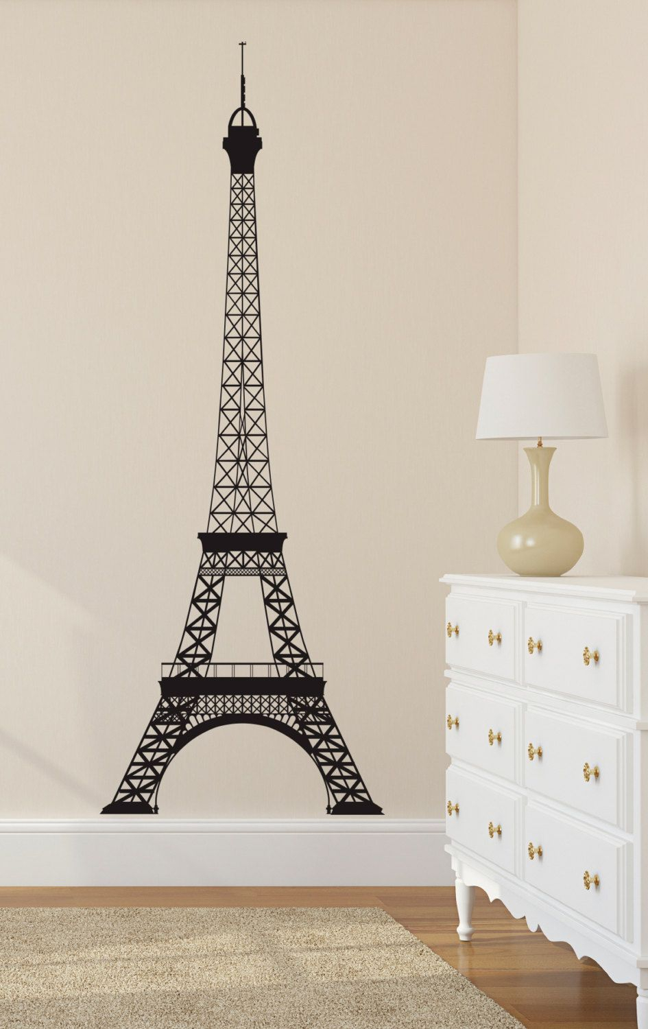 Eiffel Tower Wall Decal Paris Wall Decal Wall Decor La Tour Throughout Latour Wall Decor (Photo 7 of 30)