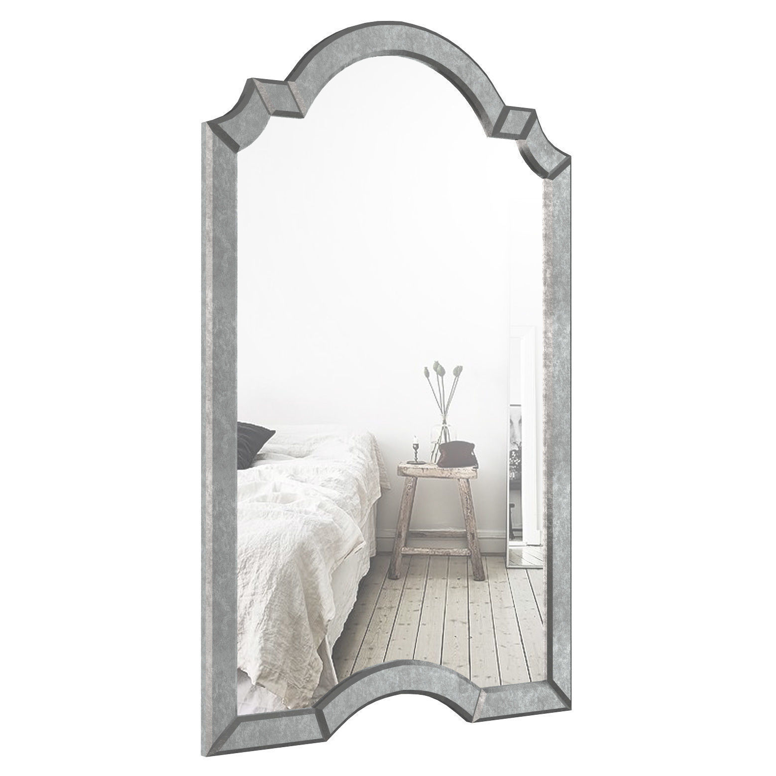Ekaterina Arch   Crowned Top Wall Mirror Wlao1197 | 3D Model Regarding Ekaterina Arch/crowned Top Wall Mirrors (Photo 3 of 30)