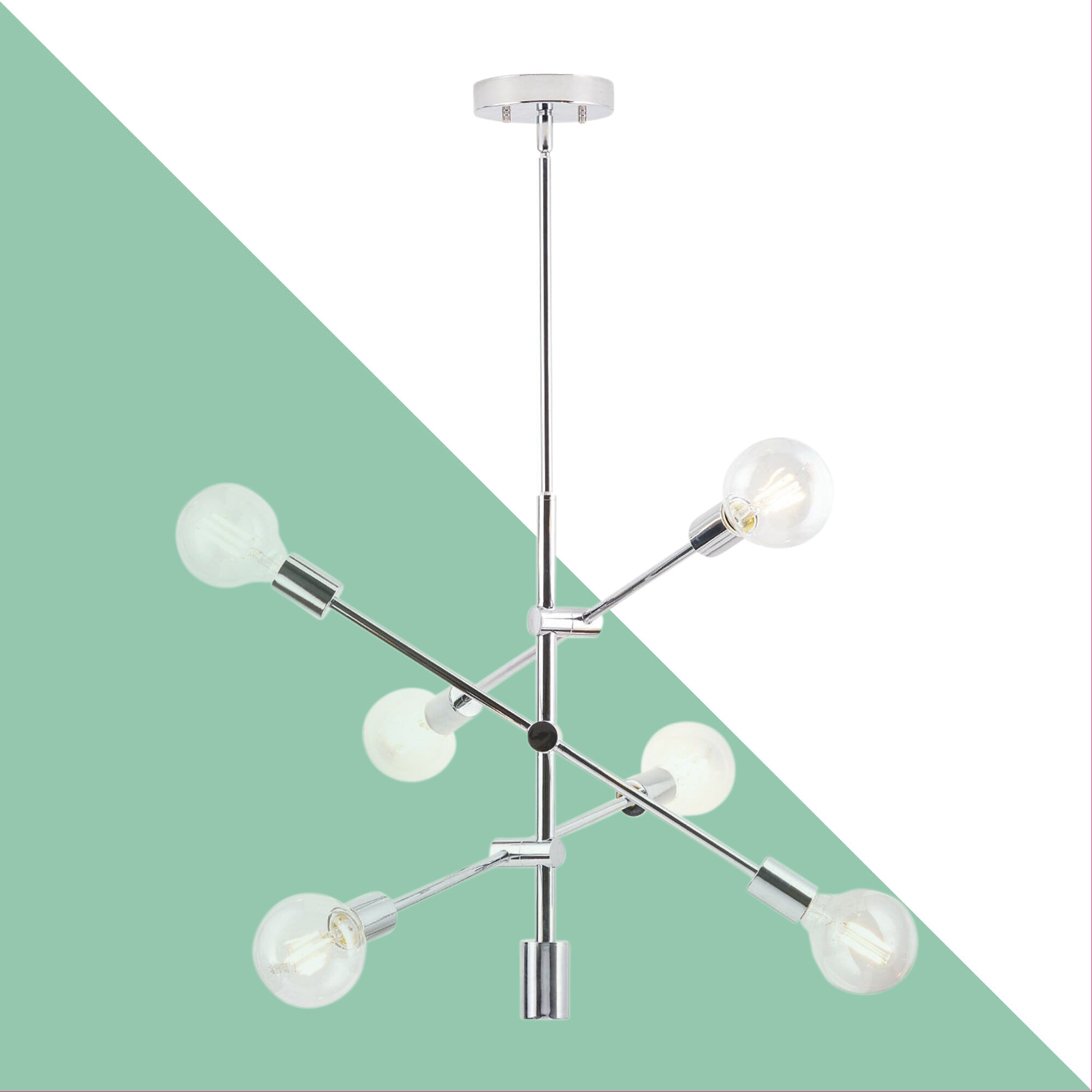 Eladia 6 Light Sputnik Chandelier With Regard To Eladia 6 Light Sputnik Chandeliers (View 3 of 30)