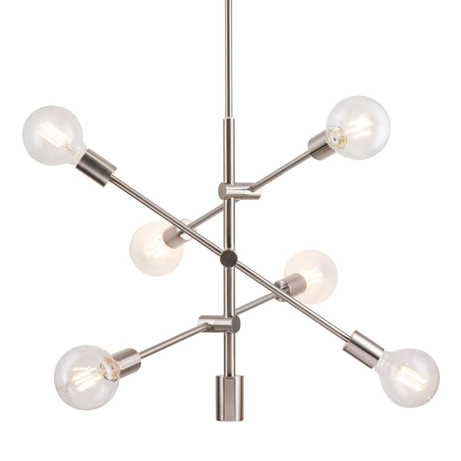Eladia 6 Light Sputnik Chandelier With Vroman 12 Light Sputnik Chandeliers (View 13 of 30)