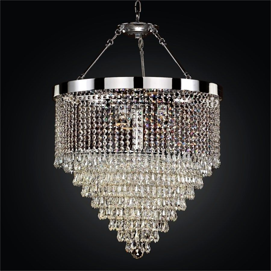 Elegant Hanging Crystal Chandelier – Havere.club Pertaining To Verdell 5 Light Crystal Chandeliers (Gallery 27 of 30)