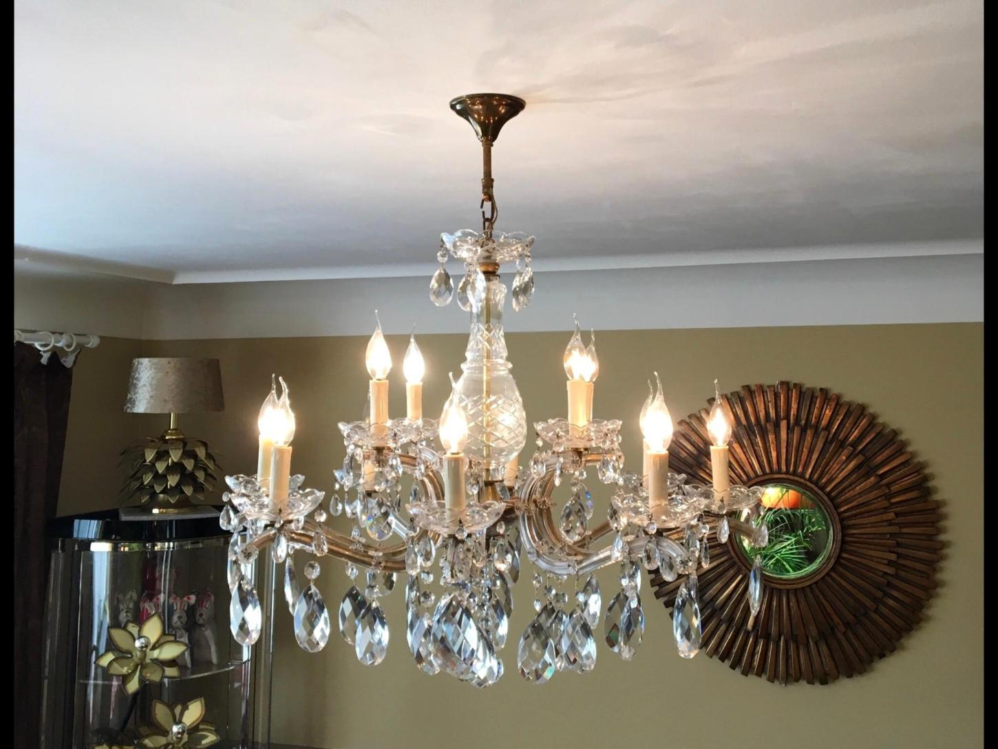 Elegant Hanging Crystal Chandelier – Havere.club With Regard To Verdell 5 Light Crystal Chandeliers (Photo 20 of 30)