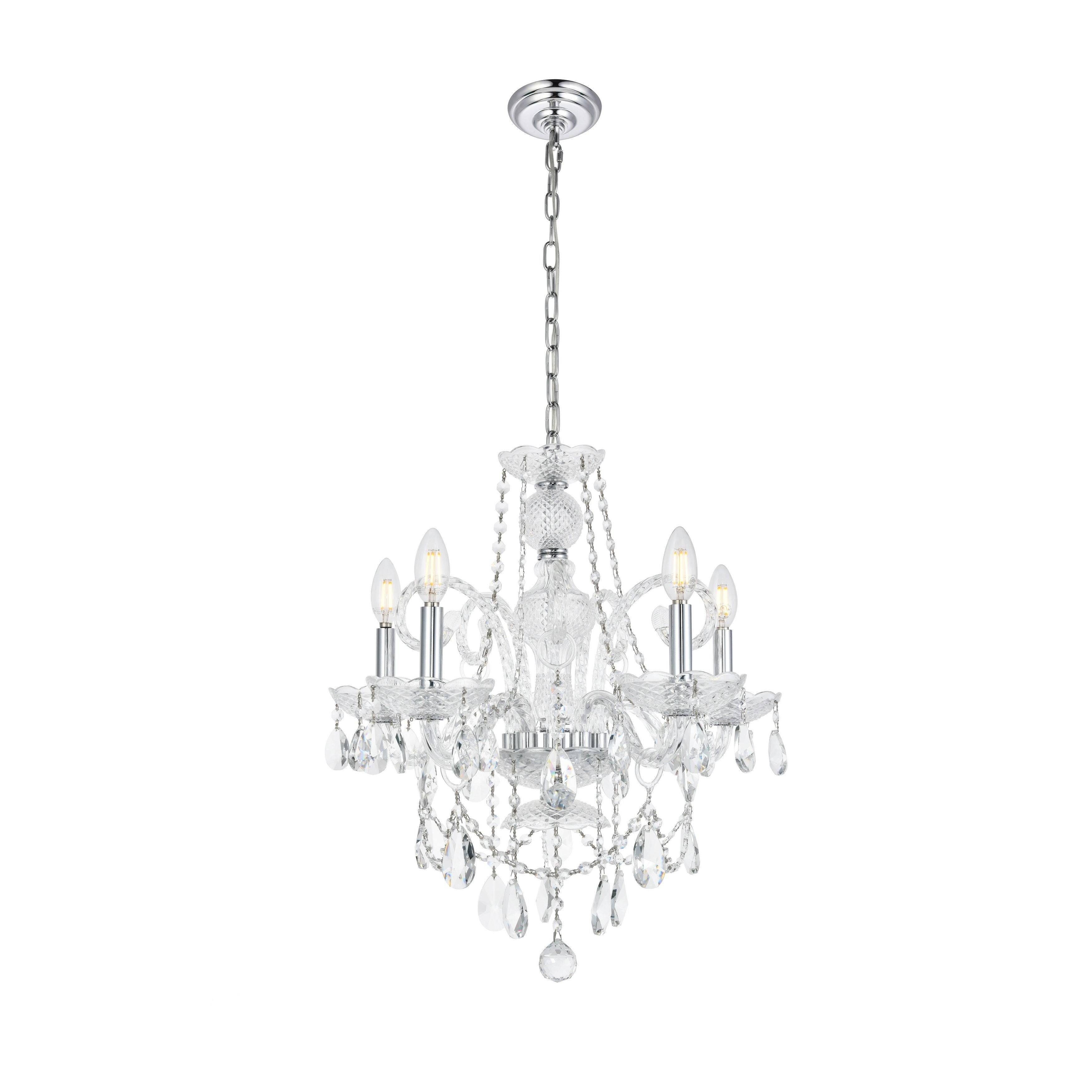 Elegant Lighting Ceiling Lights | Shop Our Best Lighting With Regard To Hamza 6 Light Candle Style Chandeliers (Photo 27 of 30)