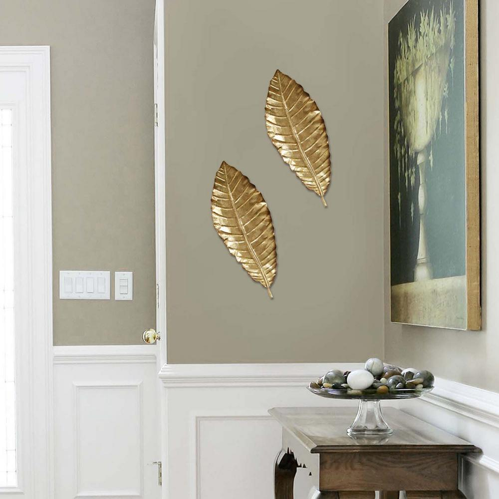 Elegant Metal Leaf Wall Decor regarding Flowing Leaves Wall Decor (Image 6 of 30)