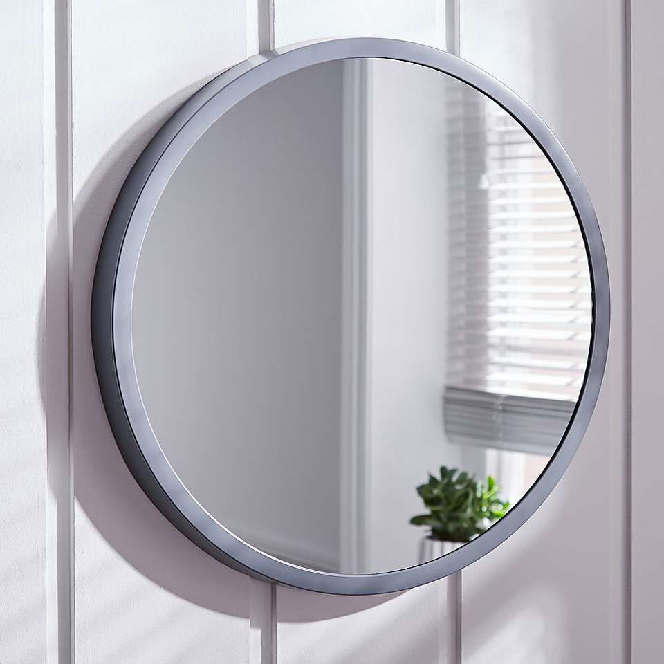 Elements Grey Round Wall Mirror In 2019 | Home | 2019 Regarding Romain Accent Mirrors (Gallery 16 of 30)