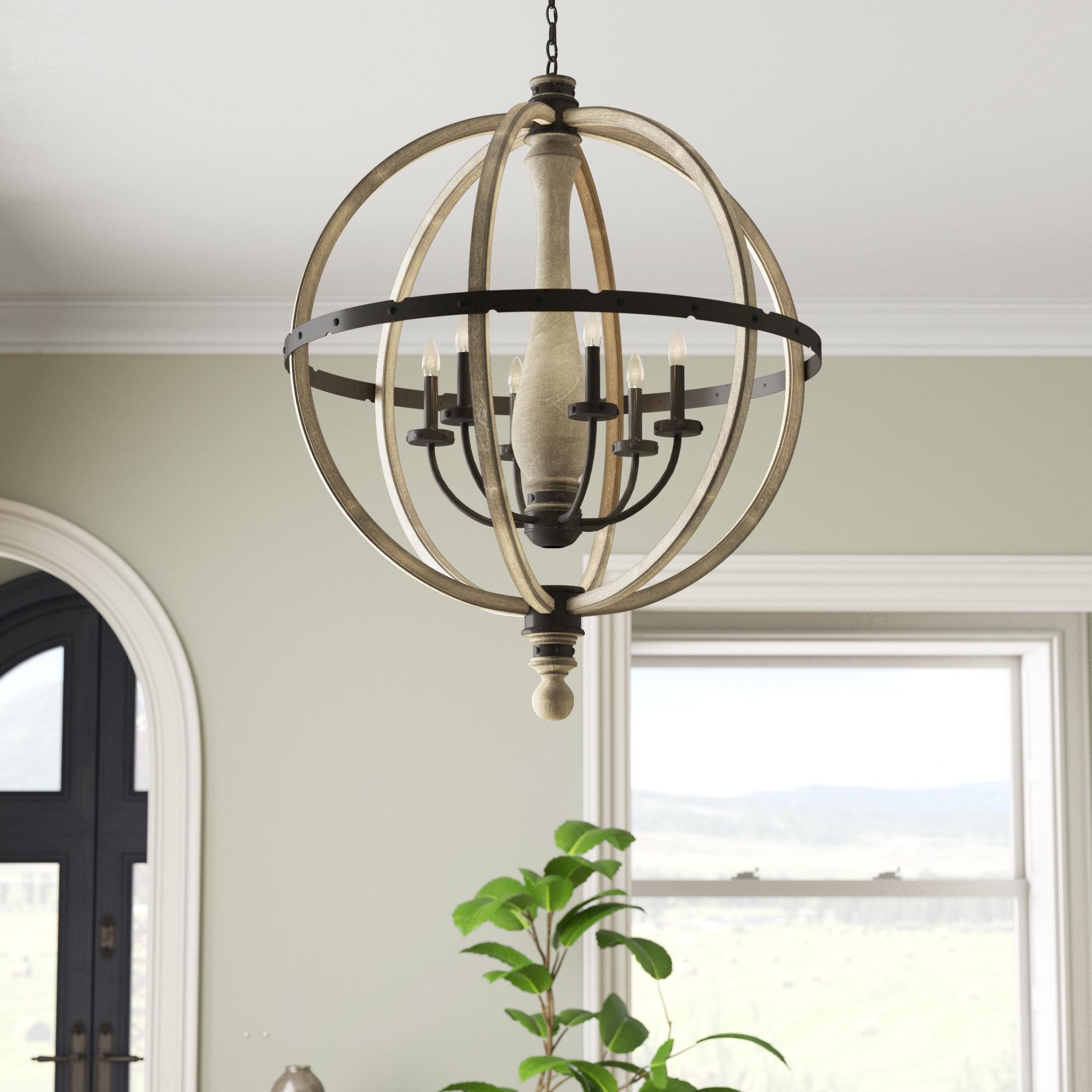 Elisabeth 6-Light Globe Chandelier throughout Donna 6-Light Globe Chandeliers (Image 13 of 30)