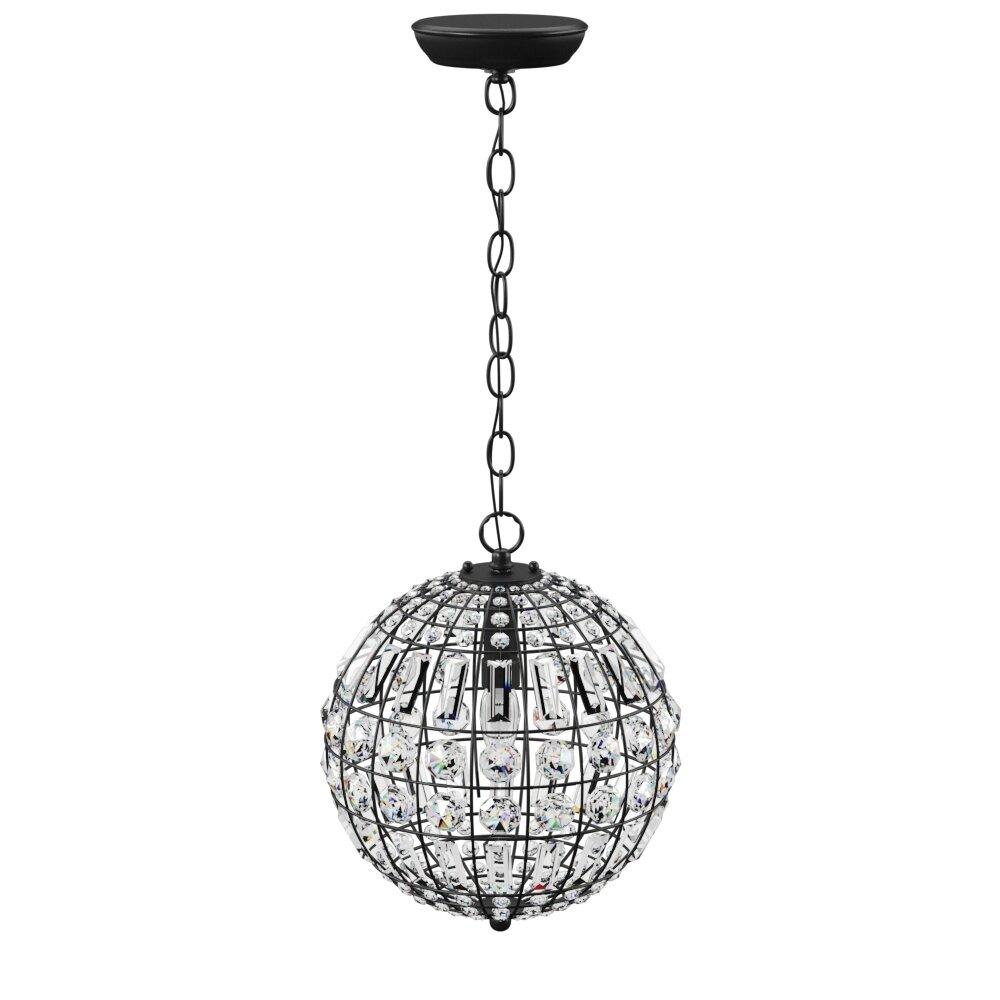 Elivra 1 Light Single Globe Pendant Within Alden 3 Light Single Globe Pendants (View 18 of 30)