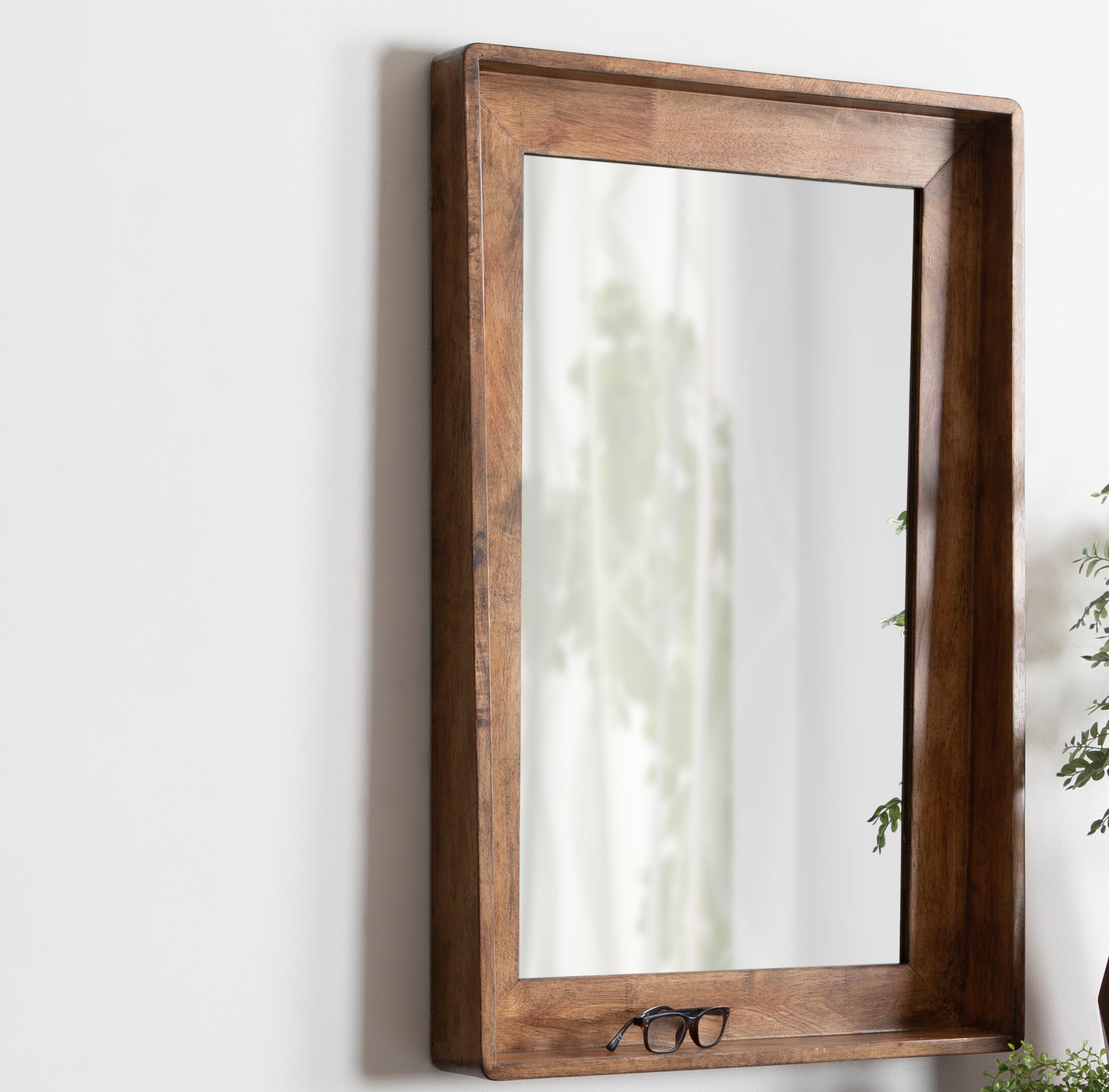 Elizabeth Vertical Wood Accent Mirror With Shelf With Wood Accent Mirrors (Gallery 2 of 30)