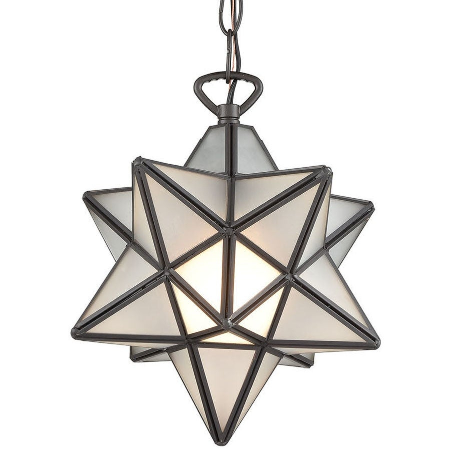 "Elk Home 1145-015 Moravian Star Single Light 9"" Wide Mini Pendant intended for 1-Light Single Star Pendants (Image 12 of 30)"