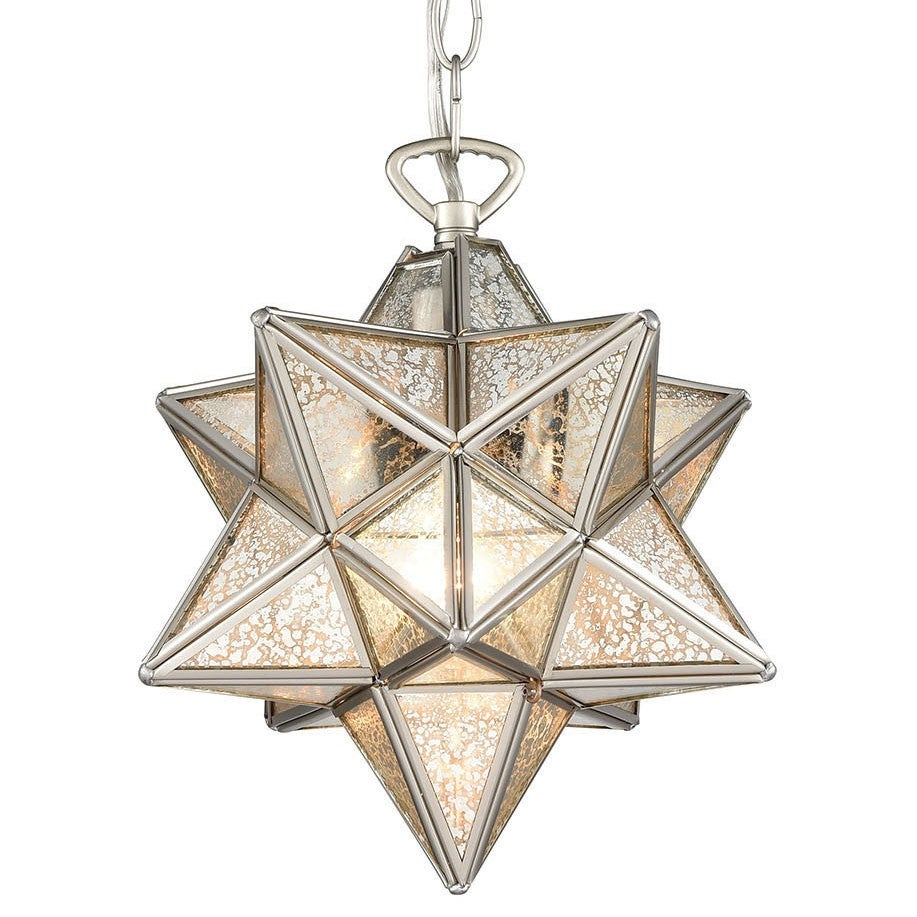 "Elk Home 1145 016 Moravian Star Single Light 9"" Wide Mini Pendant Intended For 1 Light Single Star Pendants (View 13 of 30)"